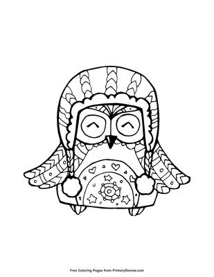 06 owl in winter hat
