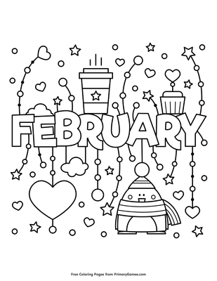 February Coloring Page | Printable Winter Coloring eBook ...