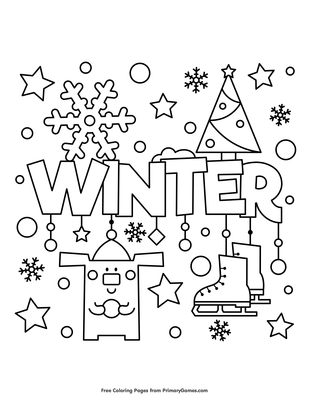 Winter Coloring Page • Free Printable Coloring Books