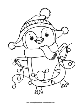Jolly Penguin Coloring Page Free Printable Pdf From Primarygames