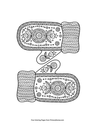 warm knitted mittens coloring page free printable pdf from primarygames warm knitted mittens coloring page