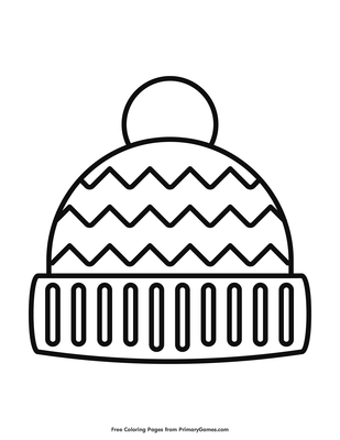 Winter Hat Coloring Page Free Printable Pdf From Primarygames
