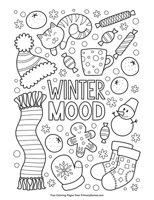 Winter Mood Coloring Page Free Printable Pdf From Primarygames