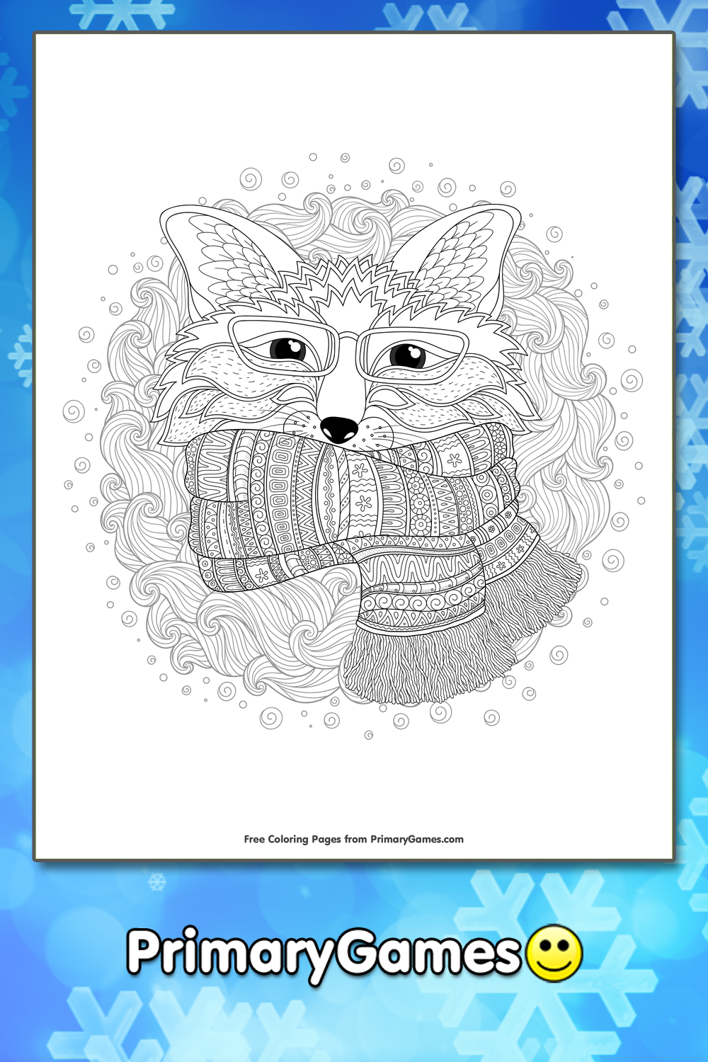 Winter Coloring Pages| Printable Coloring Pages - PrimaryGames