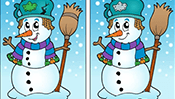 Find the Differences: Snowman