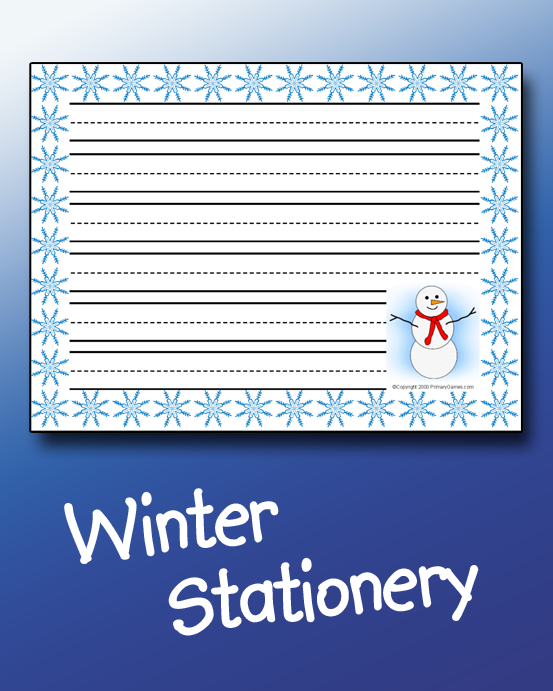 Winter Stationery PrimaryGames