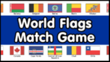 World Flags Match Game PrimaryGames