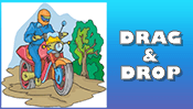 Motorcycle Drag & Drop Puzzle