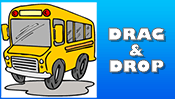 School Bus Drag & Drop Puzzle