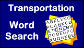 Transportation Word Search Puzzle